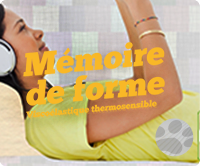 Mousse à mémoire de forme, mousse thermosensible proposée par DCM31